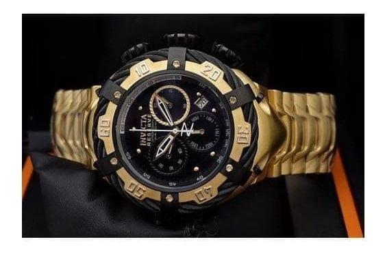 Relógio Invicta Thunderbolt - Banhado Em Ouro 18k - Robusto
