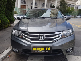 Honda City 1.5 Dx Flex 4p 2013 Cinza Completo