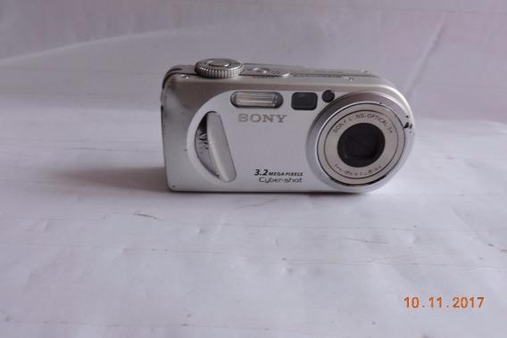 Sony Camera Cyber Shot 3.2 C/ Bateria S/ Carregador Ñ Testad