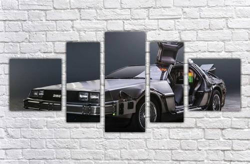 Imagem 1 de 5 de Quadro Decorativo De Volta Para O Futuro Delorean 5 Pçs 001