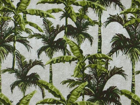 Tecido Impermeável Estampado Palmeira Decoração