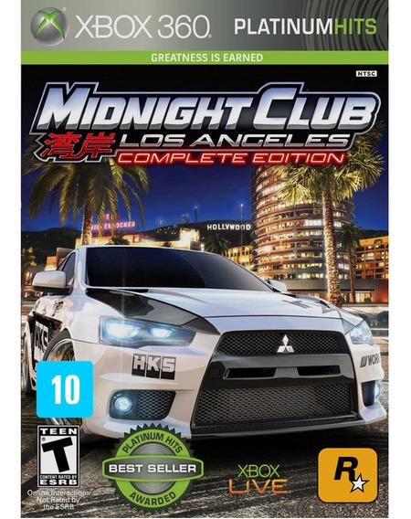Midnight Club Los Angeles Xbox 360 Mídia Física Lacrado