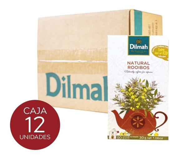 Infusión Dilmah Rooibos Natural Caja 12 Unidades.