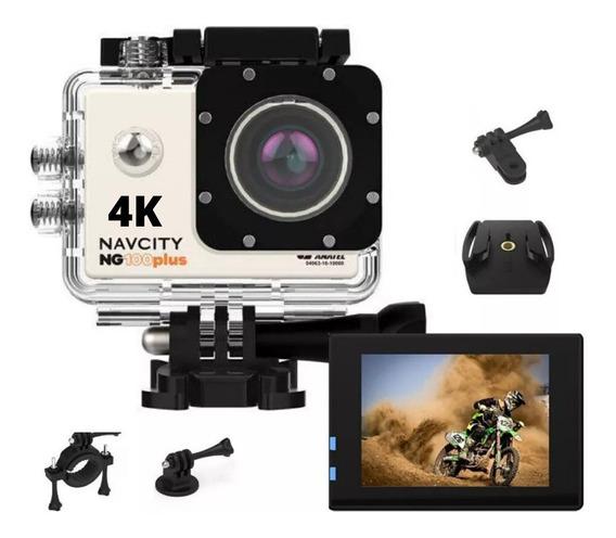 Camera Esportiva Action Can 4k Capacete Bicicleta 6 Itens