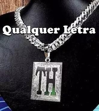 Pingente De Prata Com Letras. Original!