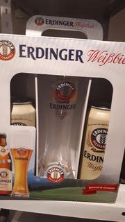 Kit Tulipa De 500ml + 2 Cervezas Lata X500 Erdinger Alemana
