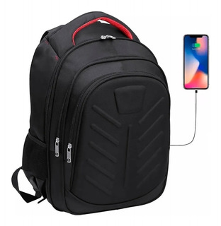 Mochila Porta Notebook Tablet 17 Reforzada Con Usb Grande