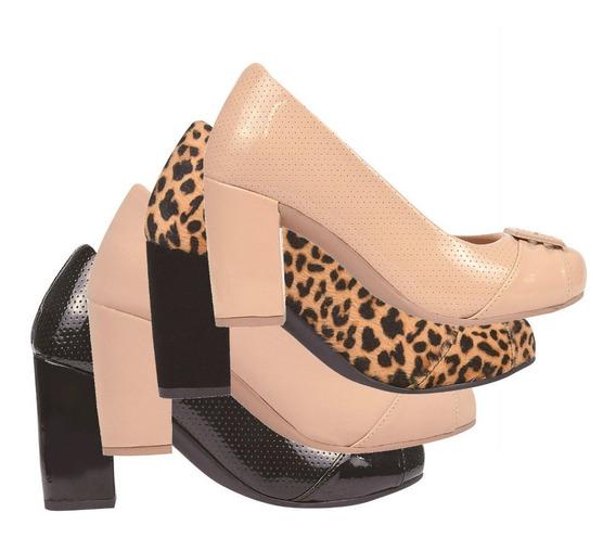 03 Pares Mule Sapato Feminina Chiquiteira Chiqui/120140