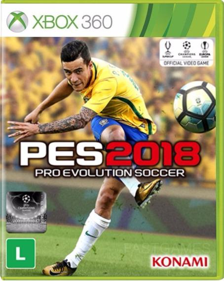 Pes 2018 Xbox 360 Mídia Física Português Lacrado