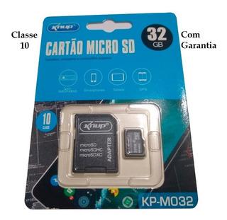 Cartão De Memória Micro Sd C/ 32gb Knup Com Adaptador
