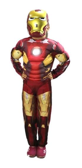 Disfraz 3d Iron Man Musculoso Avengers Super Héroes