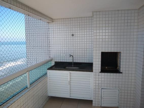 Apartamento 3 Dorm. Com Ar Condicionado De Frente P/ Praia