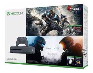 Xbox One S Edicion Especial Halo 5 Y Gears Of War 4
