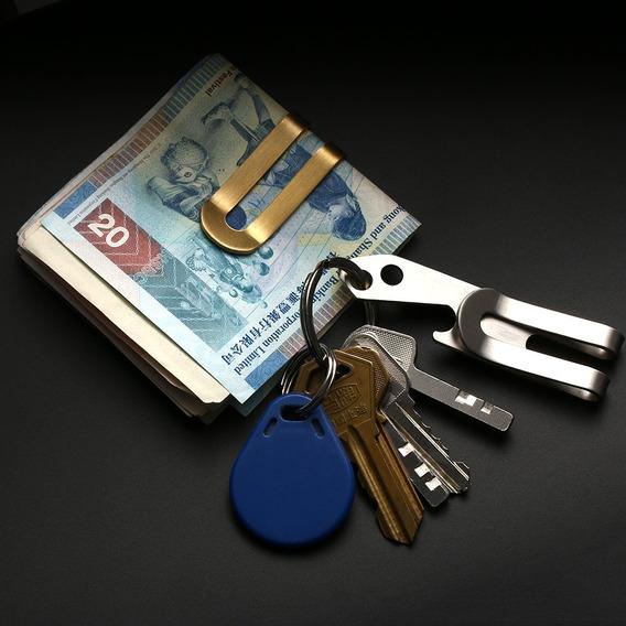 Money Clip Dorado Llavero Billetera Tarjetero Herramienta