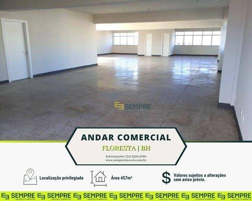 Imagem 1 de 17 de Andar Vão Livre Para Alugar, 457 M² E 03 Vagas - Floresta - Belo Horizonte/mg - Ac0074