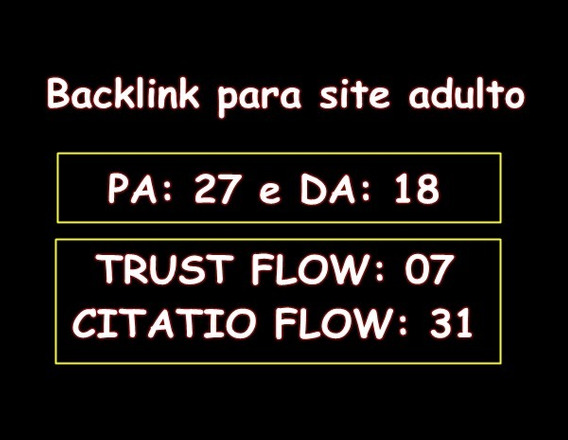 Backlink Para Site Adulto