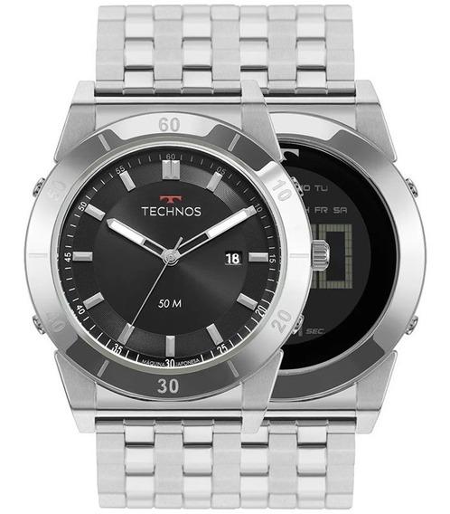 Relógio Technos Masculino Curvas Prata 1s13cs/1p