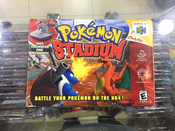 Pokemon Stadium - Original Nintendo 64 Na Caixa Jogo Usado