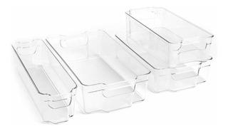 Juego De 4 Contenedores Plásticos Para Organizar El Refri
