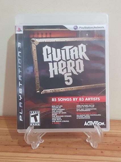Guitar Hero 5 Ps3 Mídia Física Necessita Guitarra.