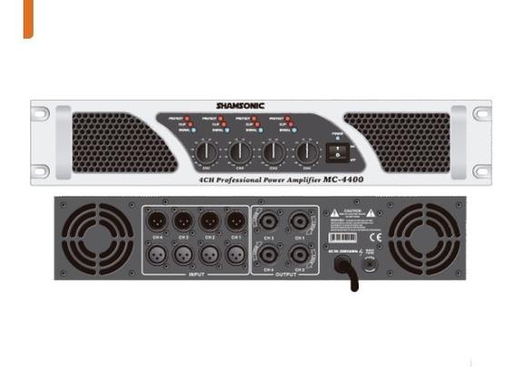 Potencia Shansonic Mc-4400. 4 Canais