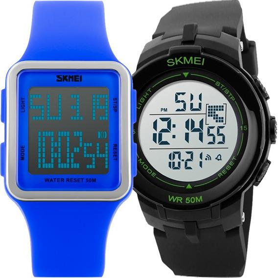 Kit Relógio Feminino E Masculino Skmei Barato Kit50535033
