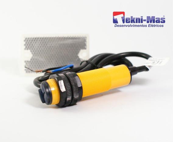 Sensor Fotoelétrico Npn Óptico M18 Nf Acompanha Refletivo