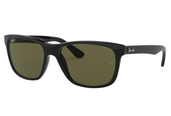 Oculos Sol Ray Ban Rb4181 601/9a 57 Preto Brilho Polarizado
