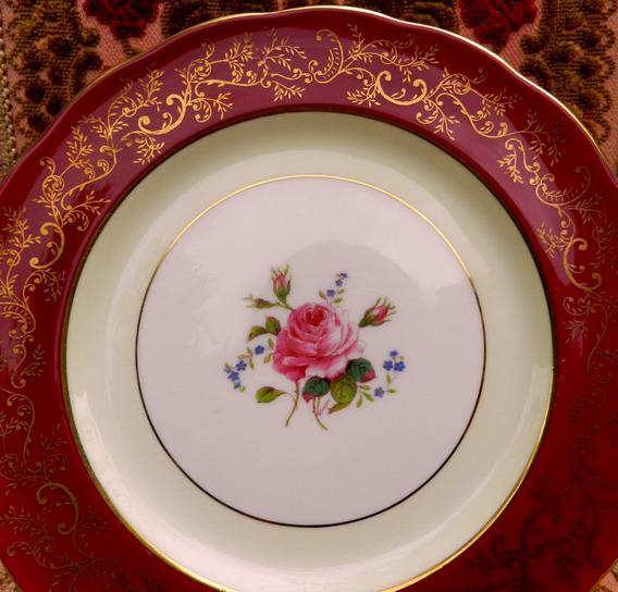 Plato Decorativo En Porcelana Inglesa Coalport * Exclusivo *