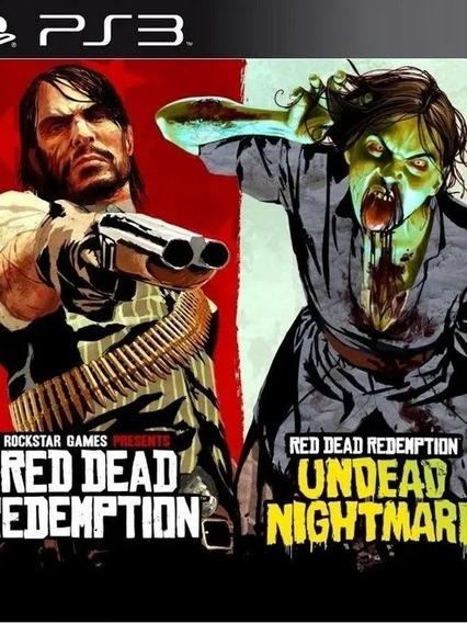 Conjunto 2 Jogos Red Dead Ps3 Psn