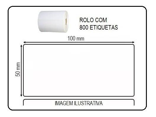Etiquetas Adesivas 5x10cm Impressoras Argox Elgin Zebra