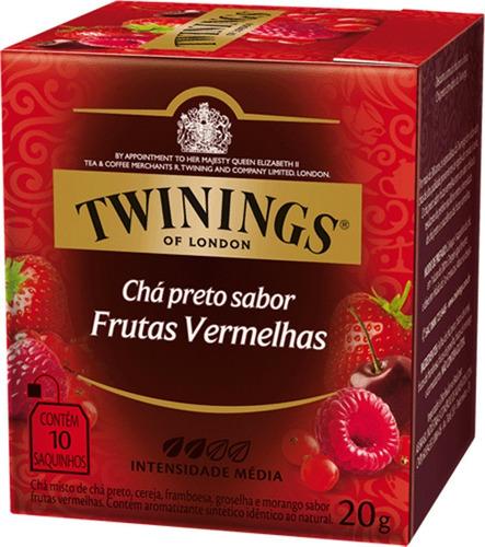 Imagem 1 de 1 de Chá Twinings Preto Frutas Vermelhas 10 Sachês