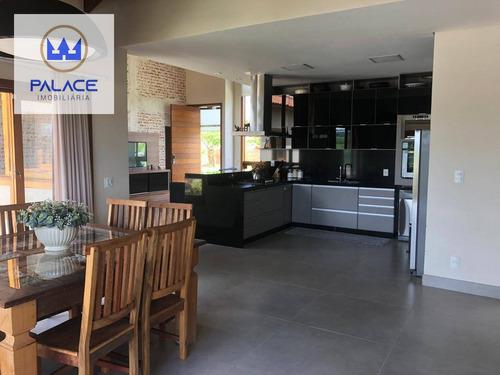 Casa Com 4 Dormitórios À Venda, 240 M² Por R$ 1.100.000,00 - Recanto Das Águas - Águas De São Pedro/sp - Ca0263