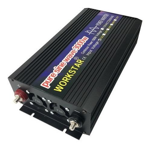 Inversor De Onda Sinusoidal Pura 12v A 110v 3000w 60hz Solar