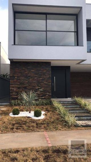 Sobrado Com 4 Dormitórios À Venda, 300 M² Por R$ 1.600.000 - Condomínio Residencial Giverny - Sorocaba/sp, Próximo Ao Shopping Iguatemi. - So0100