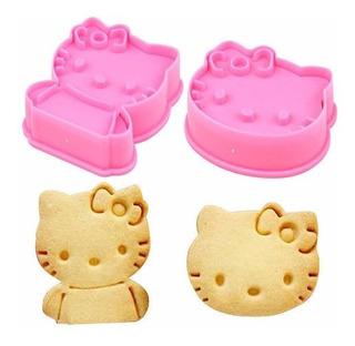 Galletas Hello Kitty Molde Cortador Fondant Cortadores Par