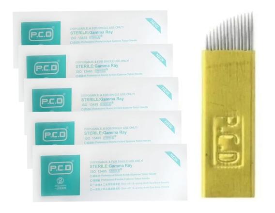 Agujas Para Microblading Filo 12 Y 14 Hard Pcd Promo X5