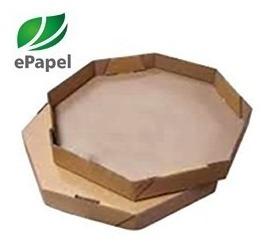 800 Folha Papel Manteiga Forrar Caixa Pizza N.35 Octogonal