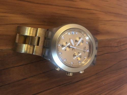 Relógio Swatch Irony Diaphane Dourado