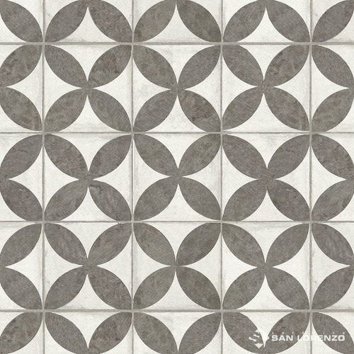 Imagen 1 de 8 de Ceramica De Piso Flower Black 45,3x45,3 1ra Cal San Lorenzo