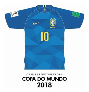 Vetores Coreldraw Camisas Copa Do Mundo 2018
