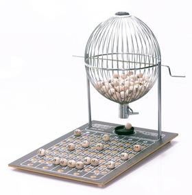 Jogo Bingo Globo 33cm C/ 75 Bolas+brinde 400 Cartelas Grátis