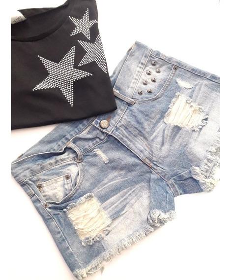 Remera Estrellas Brillos Star