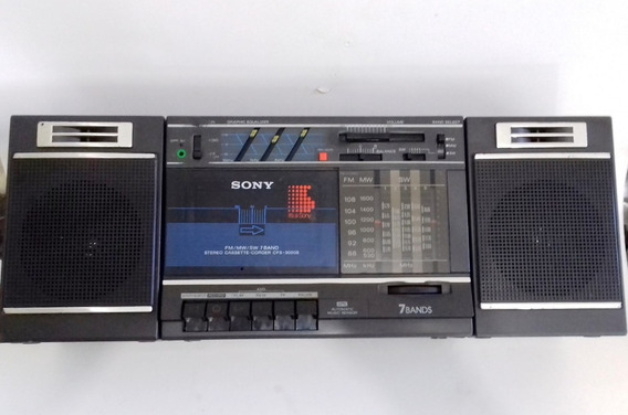 Boombox Sony Fm Om Oc 7 Faixas Fita K7 Funcionando