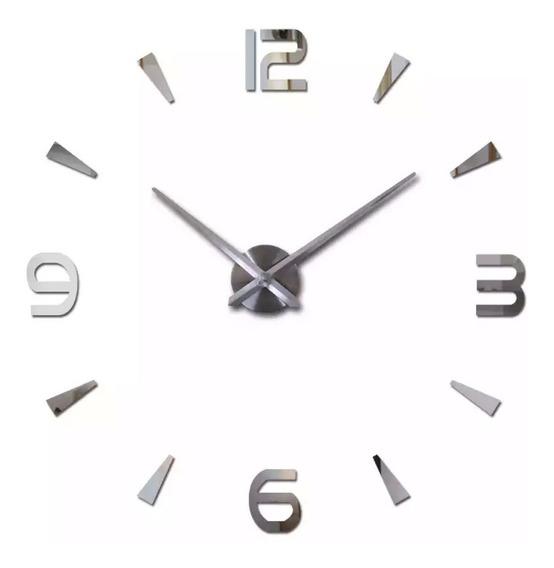 Relógio De Parede 3d Sala Tamanho Grande Decoração Top