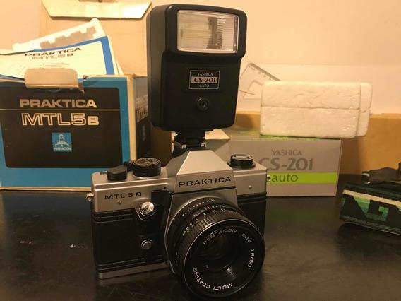 Câmera Praktica Mtl5b E Flash Yashica Cs-201