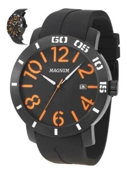 Relógio Magnum Masculino Silicone Borracha Ma34852 Novo