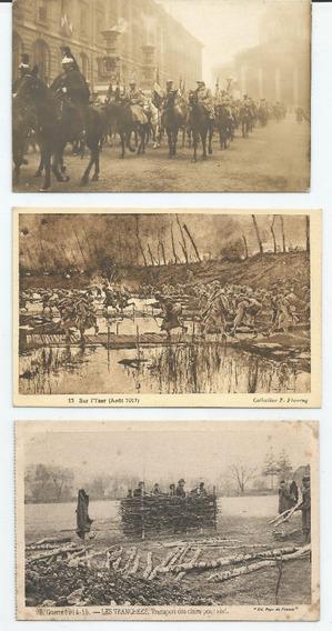 Lote 3 Postales Antiguas De 1º Guerra Mundial
