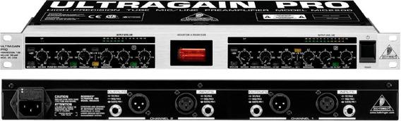 Behringer Ultragain Pro Mic2200 Pré De Válvula 2 Canais