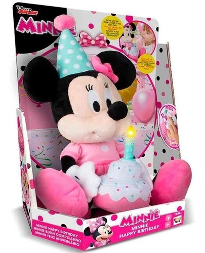 Pelúcia Minnie Happy Birthday Br374 - Multikids